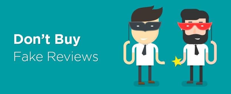 Don't Buy Fake Reviews