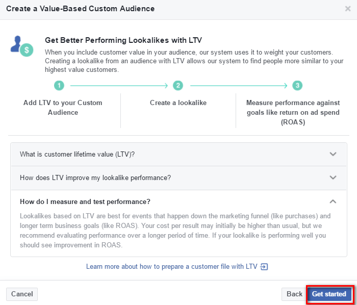 preliminary information about the new LTV feature